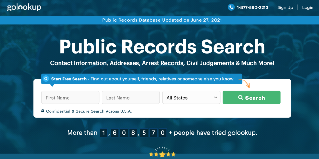 GoLookUp website can be used when hiring employees. It can also be used to locate unclaimed money or funds.